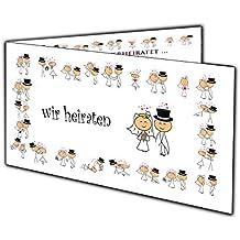 Lustige Comic Einladungskarten Zur Hochzeit Einladung Witzig Klappkarten 10  Stück