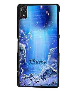 PrintVisa Designer Back Case Cover for Sony Xperia Z3 :: Sony Xperia Z3 Dual D6603 :: Sony Xperia Z3 D6633 (Bright Illustration Backdrop Shine Texture Horoscope)