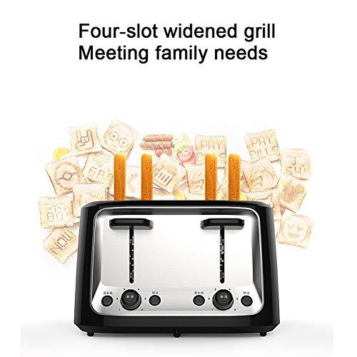 YHSFC Haushalts-elektrische Toaster Backen-Brot Sandwich Maker Grill Frühstück Maschine Toast Ofen Heizung 4 Scheiben Stück