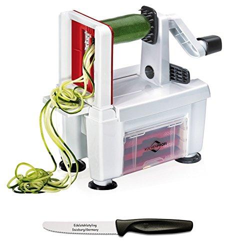 Küchenprofi Gemüseschneider COMPACT + Edelstahlstyling Universalmesser im Set
