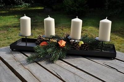 Adventsleuchter Wolga gross - Länge 80cm, Adventsleuchter von kuheiga auf Lampenhans.de