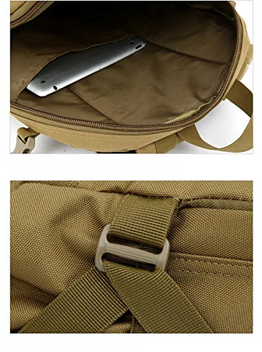 40L Fotografie Rucksack / Campingtasche / Military Army Patrol MOLLE Assault Pack Tactical Combat Rucksack Rucksack Tasche Laptop Rucksack für 10 bis 15,6 Zoll Laptops Khaki