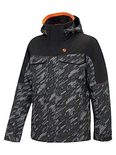 Ziener Herren TOGIAK Jacket Ski Snowboard-Jacke/Atmungsaktiv, Wasserdicht, Black camo, 50