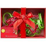 Wilton Weihnachten Keksausstecher Geschenkbox - Motiv Ausstechformen für Plätzchen