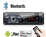 Lypumso Bluetooth Autoradio MP3 USB/Receiver mit Bluetooth Empfänger/ MP3-Player/UKW Radio von Samsung/Huawei / iPhone Control, USB/SD/Aux Freisprechfunktion und integriertes Mikrofon Standard Einba