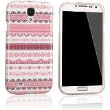 tinxi® Indian Streifen Schutzhülle für Samsung Galaxy S4 Hülle TPU Silikon Rückschale Schutz Hülle Silicon Case pink Blumen und Rund