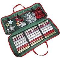 Christmas Corner Bolsa de Almacenamiento para Papel de Regalo de Navidad Tela (82 x 34 x 13 cm). para Papel, Etiquetas y Cintas