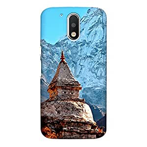 CrazyInk Premium 3D Back Cover for Moto G4 Plus - Himalaya Temple