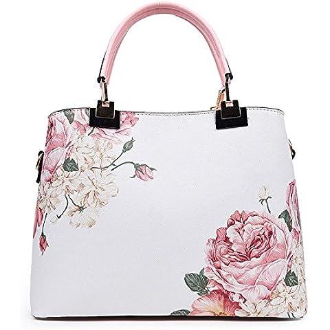 Onorevoli sacchetti iniezione timbro figura borsa a tracolla messenger bag, rosa