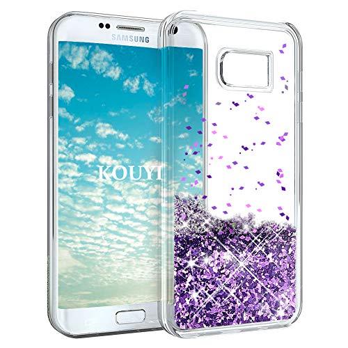 Galaxy S7 Edge Hülle Glitzer,KOUYI Luxus Fließen Flüssig Glitzer Mode 3D Bling Cute Dynamisch...