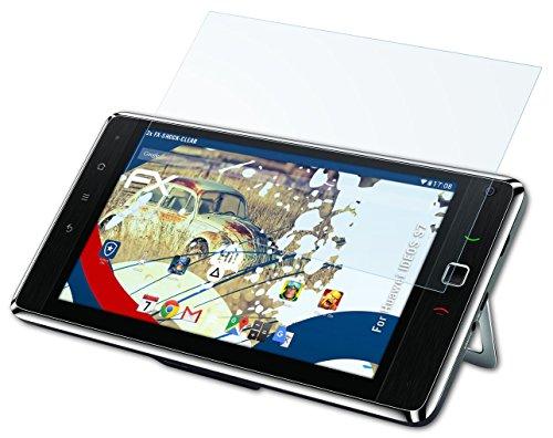 Huawei IDEOS S7 Folie - 2 x atFoliX FX-Shock-Clear stoßabsorbierende ultraklare Panzerfolie Displayschutzfolie