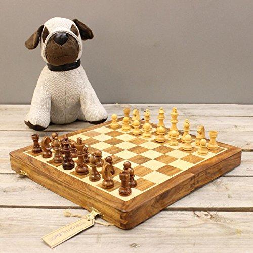 """Preisvergleich Produktbild 12"""" Hölzerne Magnetische Hand Gemacht Mainboard-schachspiel"""