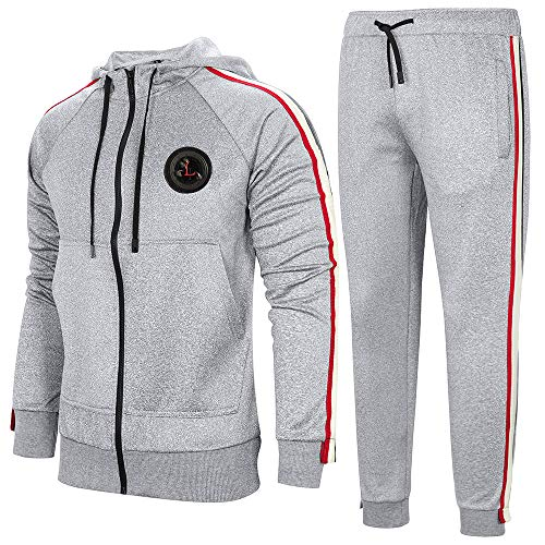 AOTORR Survêtement Homme Ensemble Sweat-Shirt à Capuche et Pantalon de Sport Jogging