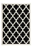 Teppich Wohnzimmer modern Carpet geometrisches Design RUG Manolya 2097 Schwarz 80x150cm | Teppiche günstig online kaufen