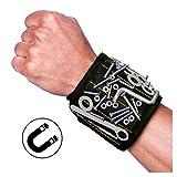 Best Werkzeug Geschenk für DIY HandwerkerMagnetische Armbänder, Magnetarmband mit 5 starken Magneten, Schrauben, Nägel, Dübel, Bohrungen und kleine Werkzeuge und Schrauben Tasche , Vater Geschenk