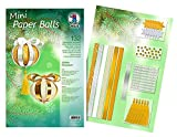 Ursus 24120099 Designstreifen Mini Paper Balls, Golden Ornaments