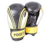 POWRX Boxhandschuhe Kunstleder 6oz (Schwarz/Gelb)