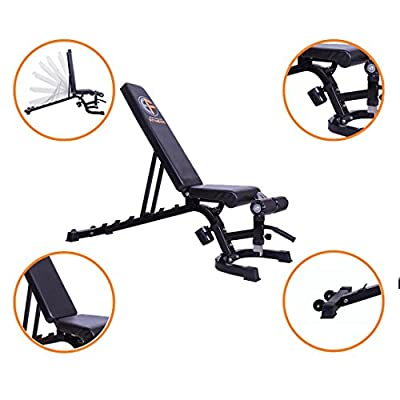 EXTREME FITNESS® Adjustable Weight Bench Training Fitness Gym Flat Incline Decline Sit Up Heavy Duty by Fitness Online Direct Ltd