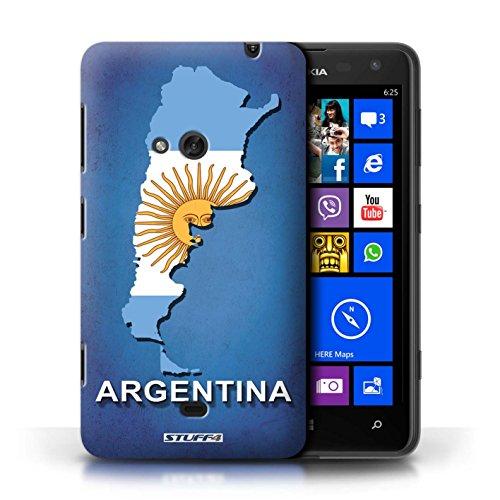 Kobalt® Imprimé Etui / Coque pour Nokia Lumia 625 / Afrique du Sud/Afrique conception / Série Drapeau Pays Argentine