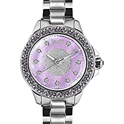 MEDOTA Farfalla.D Women's Studded Automatic Water Resistant Analog Quartz Watch - Purple