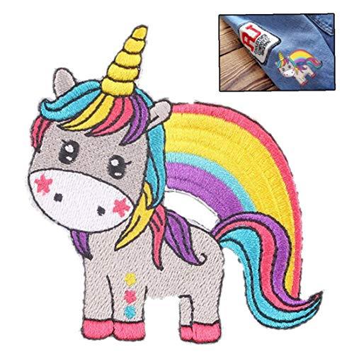 Zonfer Unicornio Patch 3D Etiqueta engomada del Logotipo Remiendo del Hierro Parches para la Ropa de la Ropa Remiendo DIY Moda Unicornios para niños Apliques