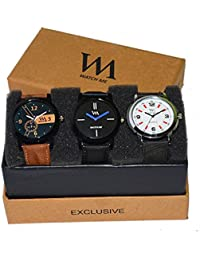 WM Stylish Watches For Boys And Men Combo Gift Set With Sunglasses WMC-002-WMD-009-WMC-001aeons