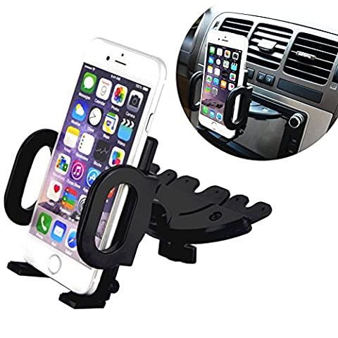 Alaix support de voiture, universel de voiture CD Dash Slot support de montage support pour GPS iPhone téléphone portable