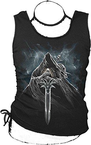 Spiral-Le donne-Grim Rider-2in1cravatta maglia nero Black L
