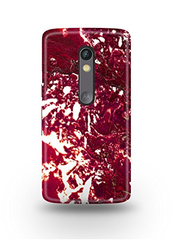 Moto X Play Cover,Moto X Play Case,Moto X Play Back Cover,Red & White Marble Moto X Play Mobile Cover By The Shopmetro-12366