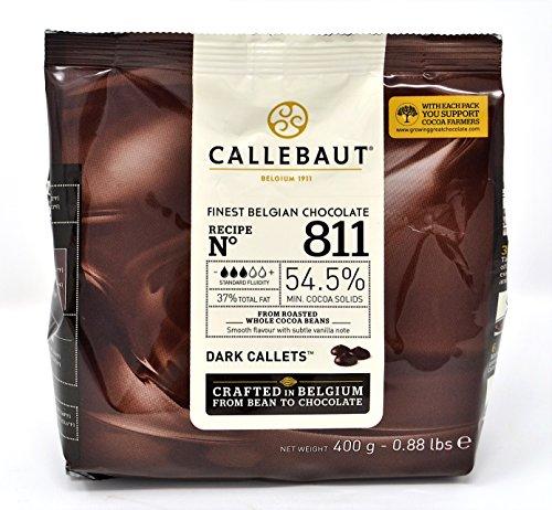 Callebaut N° 811 (54,5%) - Cobertura de Chocolate Negro Belga - Finest Belgian Dark Chocolate (Callets) 400g