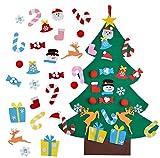 BLAZOR Feutre Arbre de Noël-Sapin de Noel Petit 3.1ft DIY Kit Deco Noelavec 25 Ornements Détachables Cadeaux de Noël pour Enfants Décoration Murale de Porte Vitrine...