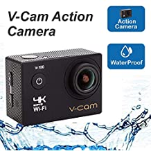 V-CAM Sports Action Camera 4k WiFi 16 MP with High Speed Shooting & Definition Equipped with IP68 Waterproof case,Durable Waterproof to 100 Feet Including 22 Accessories