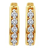 Myzevar 14K Yellow Gold and Diamond Goldie Earrings best price on Amazon @ Rs. 10509
