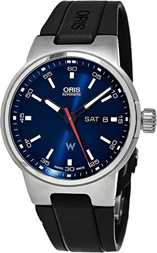 Williams F1 Oris automatico, quadrante con giorno e data, colore: blu in...