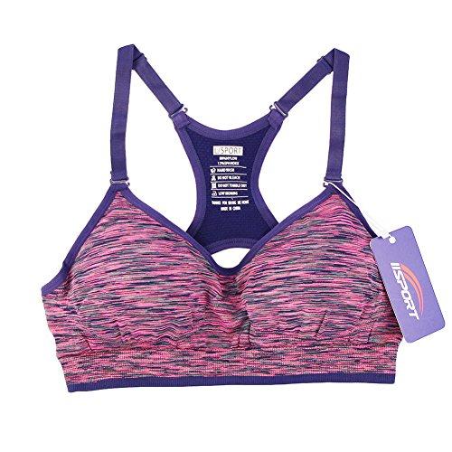 iiSport- Underwear - Soutien-gorge de sport - Brassière Sans Armature - Uni - Femme rouge