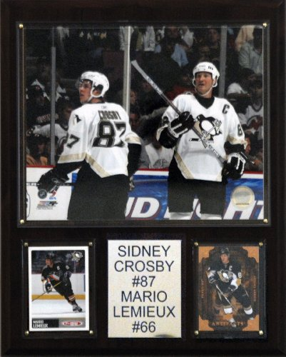C & I Collectables NHL Crosby-Lemieux Pittsburgh Pinguine Spielerplakette