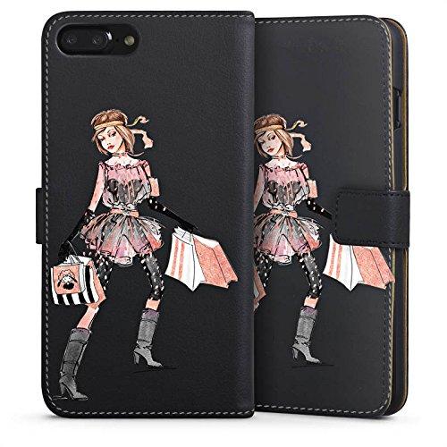 Apple iPhone 6 Silikon Hülle Case Schutzhülle Shopping Queen ohne Hintergrund Handtasche Sideflip Tasche schwarz