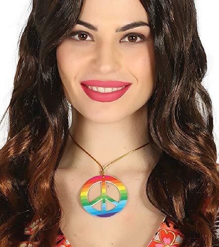 n Hippie Hippie Hippie 60er 70er Jahre Regenbogen Peace Halskette Kostüm Outfit Schmuck Zubehör ()