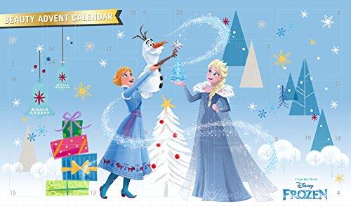 Markwins Frozen Beauty Adventskalender 2018 mit 24 tollen Überraschungen von Anna & Elsa für Haare, Nägel, Augen & Lippen -