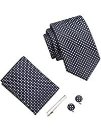 Uomo cravatta, fazzoletto, stickpins e gemelli pacco regalo