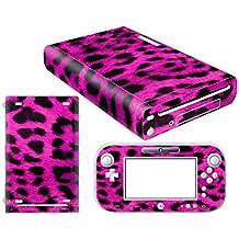 Nintendo Wii U Skin Design Foils Pegatina Set - Pink Leopard Motivo