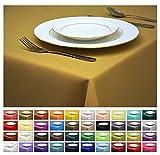 Rollmayer Tischdecke Tischtuch Tischläufer Tischwäsche Gastronomie Kollektion Vivid (Senf 8, 140x300cm) Uni einfarbig pflegeleicht waschbar 40 Farben