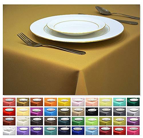 (Rollmayer Tischdecke Tischtuch Tischläufer Tischwäsche Gastronomie Kollektion Vivid (Senf 8, 140x300cm) Uni einfarbig pflegeleicht waschbar 40 Farben)