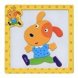 Vovotrade Rompecabezas magnético de madera educativo bebé de desarrollo de entrenamiento de juguete (C)
