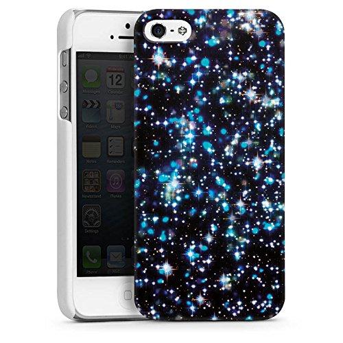 Apple iPhone 4 Housse Étui Silicone Coque Protection Étoiles Paillettes Motif CasDur blanc