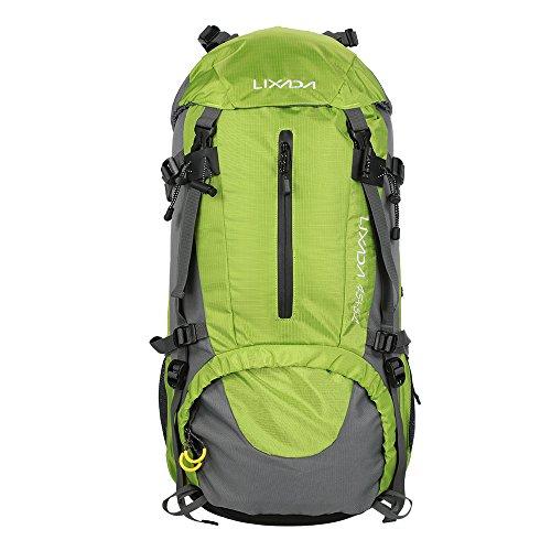 701ca0d79f Lixada 50L Zaino Impermeabile Sport Trekking Escursioni Campeggio Alpinismo  Arrampicata Zaino in Spalla Con Copertura a