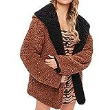 ITISME Damen Strickjacke Frauen Samt Solide doppelseitige langärmelige warme Jacke Mantel Damen Sweatershirt Pullover Outwear Strickpullover