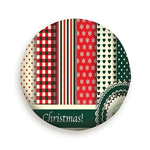 Huabuqi Weihnachten Digital Scrapbooking Papiermuster Retro Urlaub Reserverad Reifen Abdeckung 17inch Vintage Rose Chintz