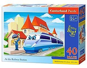Castorland At The Railway Station 40 Maxi pcs Puzzle - Rompecabezas (Puzzle Rompecabezas, Dibujos, Niños, Niño/niña, 4 año(s), Interior)