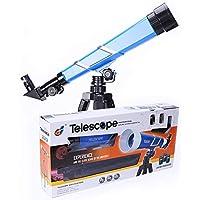 XIAOYUE Telescopio para Niños, Principiante Telescopio De La Ciencia Astronómica con Trípode Retráctil, Tres Oculares De Aumento (Azul)